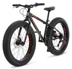 "Mongoose Boys Argus Fat Tire Bicycle 24"" Wheel, Black"