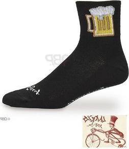 SockGuy Men's Bevy Socks, Black, Large/ X-Large