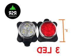 Bicycle Front Rear LED Light Set USB Rechargeable MTB Bike H