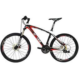 BEIOU Bicycles Hardtail Mountain Bike 26-Inch Shimano 3x9 Sp