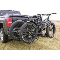 Bike Carrier Hitch For 2 Fat Tire Bikes Folding Padded Truck