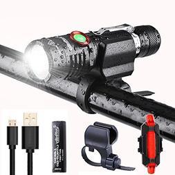 Uelfbaby 1000 Lumen Bike Light USB Rechargeable Stepless dim