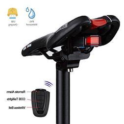 Anti-Theft Bike Tail Light Alarm With Remote Intelligent Bic