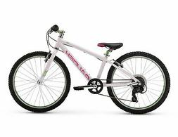 "Raleigh Bikes Girls Lily 24 Mountain Bike 24""/One Size White"