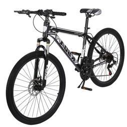 "Black 26"" Front Suspension Mountain Bike 21-Speed Men's Bike"
