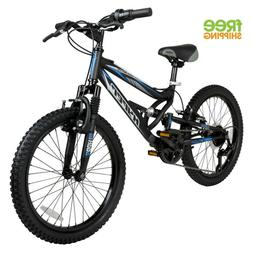 "Boy Mountain Bike 20"" 7 Speed Shimano Child Bicycle Dual Sus"