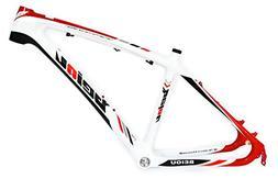BEIOU 3k Carbon Fiber Mountain Bike Frame 26-Inch Glossy Uni