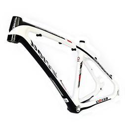 BEIOU 3K Carbon Fiber Mountain Bike Frame 26-Inch Glossy Whi