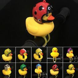 Cartoon Yellow Little Duck Shape Bicycle Bell Shining Mounta
