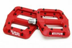 "Race Face Chester Composite Platform Pedals: 9/16""  RED Pair"