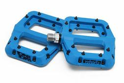 "Race Face Chester Composite Platform Pedals: 9/16"" Blue Pair"