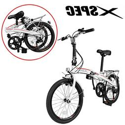 "Xspec 20"" 7 Speed City Folding Mini Compact Bike Bicycle Urb"