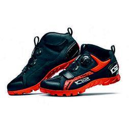defender mountain bike mtb shoes black orange
