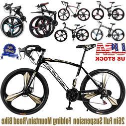 Disc Brake Full Suspension Mountain Bike 21 Speed Women&Men'