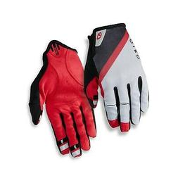 dnd mountain bike gloves gray dark red