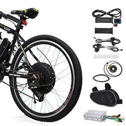 """Voilamart Electric Bicycle Kit 26"""" Rear Wheel 48V 1000W E-bi"""