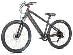 "Kent Electric Mountain Bike, 27.5"" Wheels, Black E-Bike"