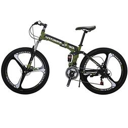 Kingttu EURG6 Mountain Bike 26 Inches 3 Spoke Wheels Dual Su