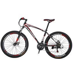 EUROBIKE EURX1 27.5 Inch Wheels Mountain Bike 21 Speed MTB B