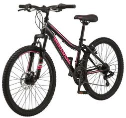 Mongoose Excursion Girls Mountain Bike 24-inch 21 Speeds Pin