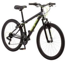 "24"" Mongoose Excursion Boys' Mountain Bike, Black/Green"
