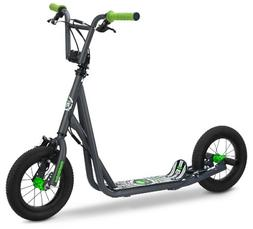 "12"" Mongoose Expo Scooter, Grey/Green"