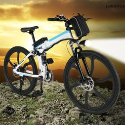 "Fashion Foldable 26""Electric Mountain Bike Outdoor Camping A"