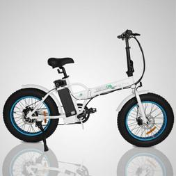 "ECOTRIC 20"" New Fat Tire Folding Electric Bike Beach Snow Bi"