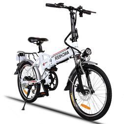 "Folding 19"" E-Bike Electric Mountain Bicycle Bike 7-Speed Li"