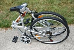folding bike w shimano silver