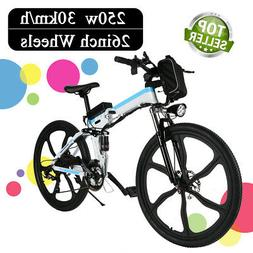 Folding Electric Mountain Bike Premium Full Suspension and S
