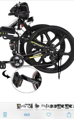 ANCHEER FOLDING ELECTRIC MOUNTAIN BIKE WITH 26'' SUPER LIGHT