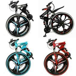 26in Folding Mountain Bike Full Suspension MTB Bikes 21 Spee