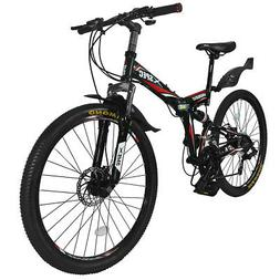 folding mountain bike bicycle trail