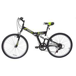 Murtisol Folding Mountain Bikes 26'' Foldable Bikes with Sof