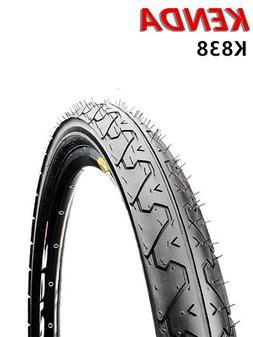 KENDA K838 Mountain Bike Bicycle Slick Wire Tires Blackwall 26x1.95 Pack of 2