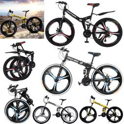 Full Suspension Mountain Bike 21 Speed Disc Brake Women-Men'