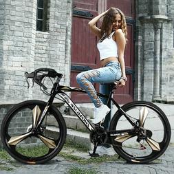Full Suspension Mountain Bike 21 Speed Disc Brake Women&Men'