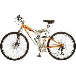 """19"""" Titan Fusion-Pro Men's Mountain Bike, Orange/Silver"""