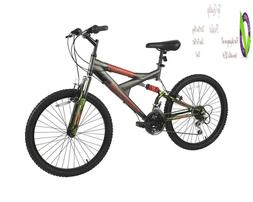 Dynacraft Gauntlet Boys' Dual Suspension 21-Speed Bike, Gray