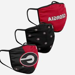Georgia Bulldogs UGA Football NCAA 3 Pack Fan Mask Face Cove