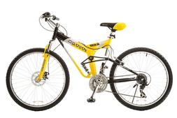 """19"""" Titan Glacier-Pro Men's Mountain Bike, Yellow/Black"""