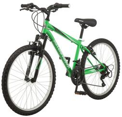 "Roadmaster Granite Peak 24"" Boys Mountain Bike Green/Black S"