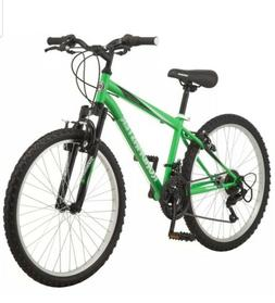Roadmaster Granite Peak Mountain Bike, 24-inch wheels, Green