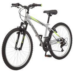 Roadmaster Granite Peak Mountain Bike, 24-inch wheels, Silve