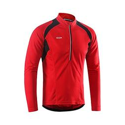 ARSUXEO Men's Half Zipper Cycling Jerseys Long Sleeves MTB B