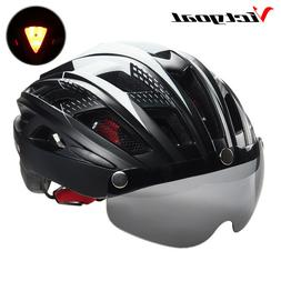 helmet cycling bike ultralight mtb visor light