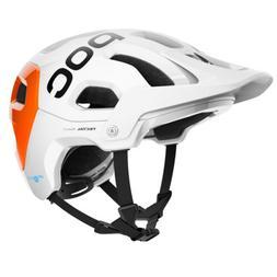 POC Helmet Mountain Bike Tectal Race Spin NFC White/Flo Oran