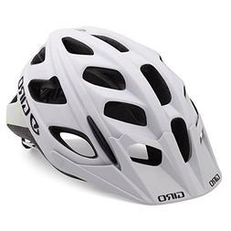 Giro Hex Helmet Matte White / Lime M & E-Tip Glove Bundle