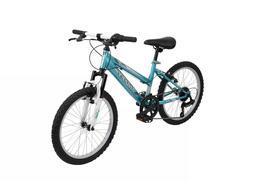 "Huffy Highland 20"" Kids Mountain Bike Aqua Blue/White"